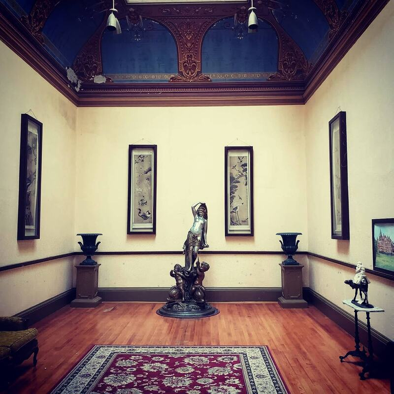The art gallery at the notoriously haunted Wilson Castle in Proctor, Vermont.