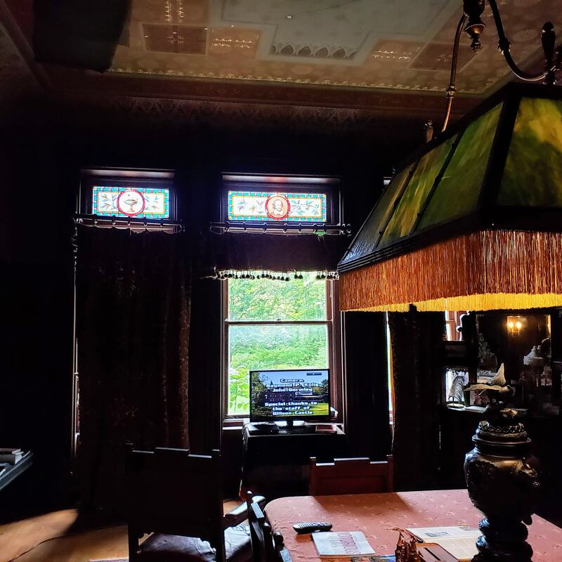 The Parlor Room at the notoriously haunted Wilson Castle in Proctor, Vermont.