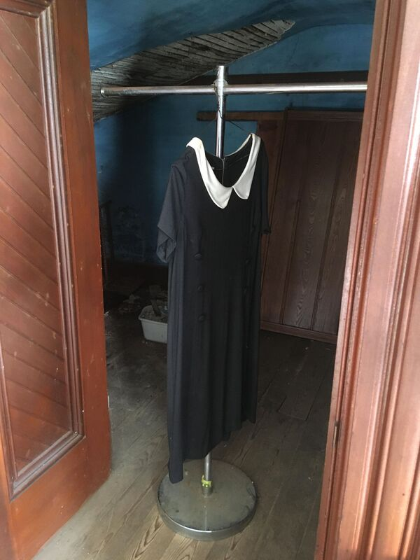 The mourning dress at the notoriously haunted Wilson Castle in Proctor, Vermont.