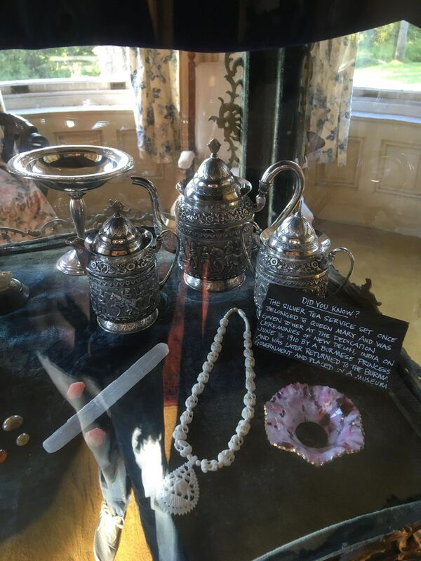 A tea set which one belonged to Queen Mary of England at the notoriously haunted Wilson Castle in Proctor, Vermont.