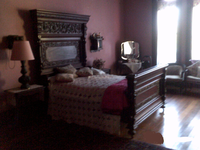 Sarah's Room at the notoriously haunted Wilson Castle in Proctor, Vermont.